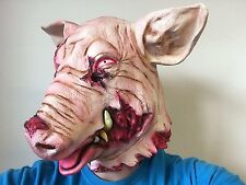 Bloody Severed Pig Head Mask Horror Animal Fancy Dress Halloween Costume