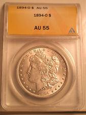 1894-0 Morgan Dollar Graded AU 55 by ANACS