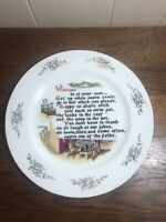 """Vintage WELCOME Plate 10.25"""" House Guests"""