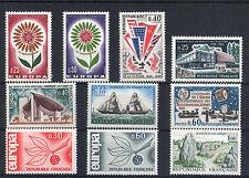 France 10 timbres non oblitérés gomme**  34  Europa etc.....