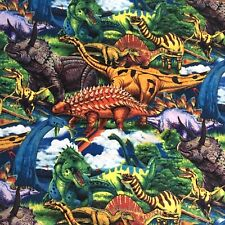 Dinosaurs Age of the Dinosaurs Allover Sewing Quilting Fabric Cotton New FQ