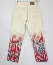 Tommy Hilfiger Jeans Women 6 Designer USA Flag Leg Pants Patriotic 4 Of July VTG