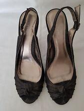 Next Women's Ladies Black Silver Sparkle Sandals Knot detail Shoe UK Size 8 EU42