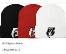 Supreme Ruff Ryders Beanie Red OS FW14 DS NIB