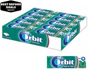 Wrigley's Orbit Green Mint (Menta Fuerte) Chewing Gum - BBE 28/01/2021