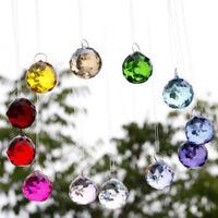 Hongville Fancy Crystal Ball Prisms Pendant Feng Shui Suncatcher For Holiday Han