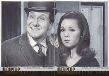 The Avengers 50th Anniversary JD Seeber Dual Steed & Emma Peel Sketch Card
