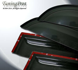 Fit 07-12 Nissan Sentra 2.0mm Outside Mount Rain Guard Wind Deflector Visor 4pcs