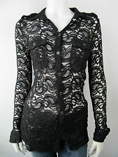 Denny Rose Damen Bluse T-Shirt Top Shirt 2275 Nero Neu M