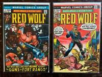 Red Wolf Bronze-Age Comic Book lot,  Marvel, Vol. 1. VF, 1972.