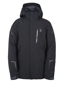 Spyder Copper GTX Insulated Snow Ski Jacket Gore-Tex Black Mens Size XL New