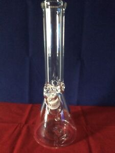 9mmHeavy Thick Glass Water Pipe Bong Beaker 14 Inch