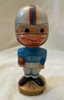 VINTAGE 1960s AFL NFL HOUSTON OILERS BOBBLEHEAD NODDER BOBBLE HEAD