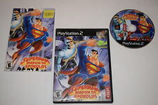 Superman Shadow of Apokolips Sony Playstation 2 PS2 Video Game Complete