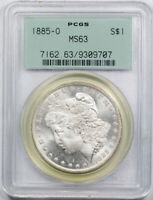 1885 O $1 Morgan Dollar PCGS MS 63 Uncirculated OGH Old Holder Cert#9707