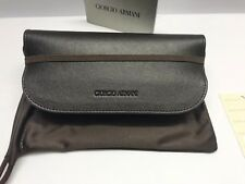 Giorgio Armani Brown Sunglasses Eyeglass Soft Case Strap Glasses Pouch Free Ship