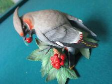 "LENOX BIRD FINE PORCELAIN FIGURINE BOHEMIAN WAXWING  5 X 5"" NIB [*NIB5]"