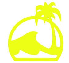 2 Pegatinas de vinilo Amarillo Fluorescente surf,Skate,Coche  ,no 563
