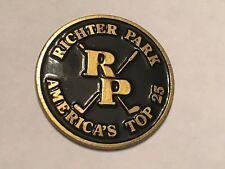 "Richter Park Golf Course 1"" Coin Style Golf Marker - Danbury, Ct. - A Beauty!"