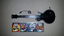 Guitar Hero Gibson for Sony Playstation 3 PS3 + 4 Games & Wireless Receiver