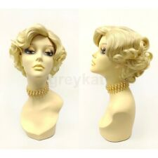 Blonde Retro 50s Short Curly Wig Marilyn Monroe Style Vintage Costume