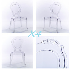 NICHES Set of 4: New V2 Ghost Clear Transparent Dining Chair Quality and style