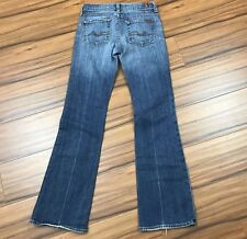 7 For All Man Kind Jeans 25 Women Bootcut Made in USA Distressed Denim