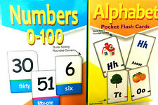 Kids FlashCard NUMBER 0-100 Flashcard ABC Alphabet Read Count Educational Study