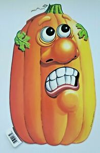 1197  Beistle Halloween Diecut Decoration Jack O Lantern Tall Scared Face New