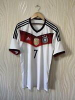 GERMANY 2014 2015 HOME FOOTBALL SHIRT SOCCER JERSEY ADIDAS m35022 SCHWEINSTEIGER