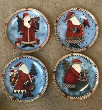 Royal Doulton Franklin Mint Heirloom Collection 4 Debbie Mumm Santa Plates