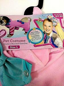 Nickelodeon Jo Jo Siwa Size Large Pet Costume Made By Rubies Costume Pink
