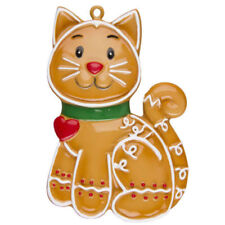 Gingerbread Cat Personalized Christmas Tree Ornament