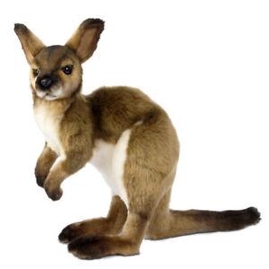 Australia Wallaby Hansa Realistic Soft Animal Plush Toy 33cm **FREE DELIVERY**