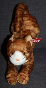 TAGGED Vintage BEANIE BABIES Plush Cat STRETCH THE CAT lot r