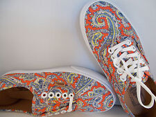 VANS Authentic Paisley Cayenne Skateboarding Shoes Men's Size 5 New In Box