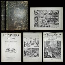L'univers illustré 1889 Journal Sept numéros lot 7 journaux Gravures illustrat.