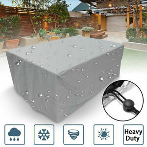 Waterproof Furniture Cover Garden Patio Rattan Table Sofa Square Cube Outdoor