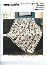 Mary Maxim Botanical Tapestry Throw Blanket Afghan Crochet Kit