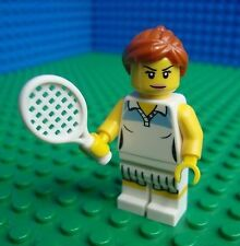 Lego Tennis Player minifig Town City Girl Lady 8803 Minifigures Series 3