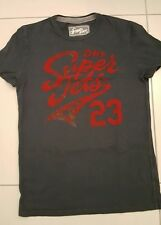 MENS SUPERDRY CREW NECK T SHIRT, MEDIUM, BLACK WITH RED GRAPHIC,STUNNER