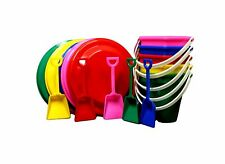 5 ea Beach Sand Buckets Toy Shovels  Frisbee Mfg.USA Lead Free Color Choices