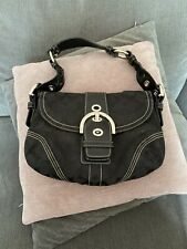 Genuine Coach Black Monogram Small Handbag - Serial Number Pictured