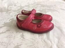 Clarks Zapatos bebé niña rosa luz tamaño 5 F Buen Estado