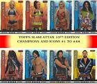 Topps WWE SLAM ATTAX 10 10TH EDITION CHAMPION + ICON HOLOGRAPHIC FOIL CARDS
