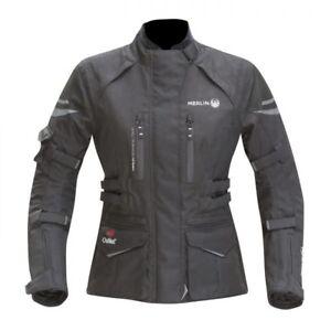 Merlin Gemini Mujer Outlast Impermeable Textil Chaqueta Moto - Negro