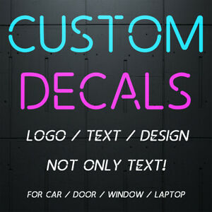 2X Custom Your Text Vinyl Lettering Stickers DIY Decal Personalized Car Decor