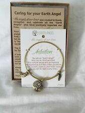 Earth Angel Bangle Gold Tone Intuition Bracelet