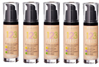 Bourjois 1.2.3. Perfect Foundation 30ml NEW 100% Correction of Imperfections
