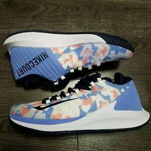 NIKE Air Court Zoom Zero Tennis Shoes Womens 12 Geometric White AA8022 406
